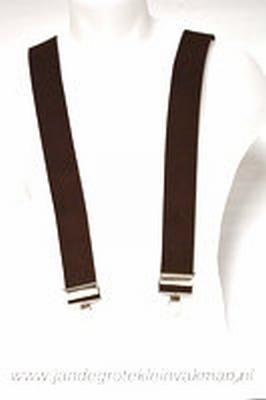 Bretel 45mm breed, met klemmen bevestigen, bruin