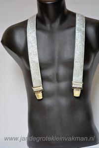 Bretel 35mm breed, zilverkleurig