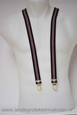 Bretel 25mm breed, volledig dubbele band