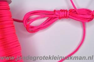 Satijnkoord, kleur 106, 2,5mm rond, per 3 mtr, roze
