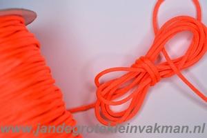 Satijnkoord, kleur 172, 2,5mm rond, per 3 mtr, oranje