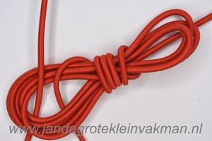 Koordelastiek, 3mm, per meter, rood, prijs per meter