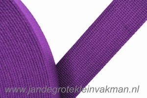 Tassenband, purper, zware kwaliteit, 30mm breed, per meter