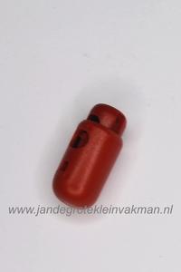 Kunststof koordstopper, ca. 26mm x 12mm, donkerrood