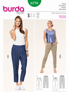 Burda naaipatroon pantalon, maat 36-46