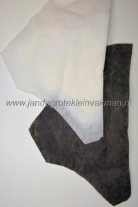 Mantelvulling zwart, gest. vlieseline ca. 30mm hoog, 2 stuks