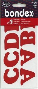 Applicatie alfabet, 40 letters 32mm hoog, rood
