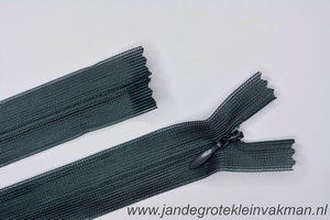 Blinde rits, 22cm, kleur 182, midddengrijs
