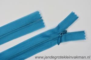 Blinde rits, 22cm, kleur 033, turqoise