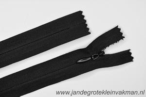 Blinde rits, 22cm, kleur 580, zwart