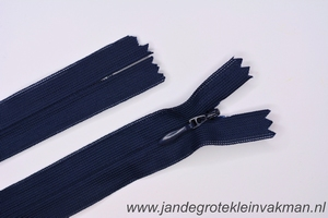 Blinde rits, 50cm, kleur 058, marineblauw