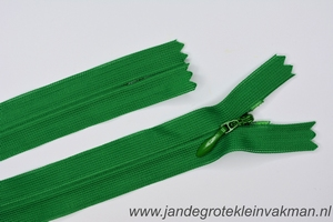 Blinde rits, 50cm, kleur 876, groen
