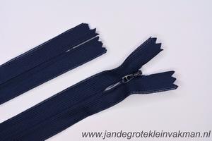 Blinde rits, 60cm, kleur 058, marineblauw