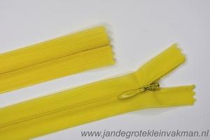 Blinde rits, 60cm, kleur 504, geel