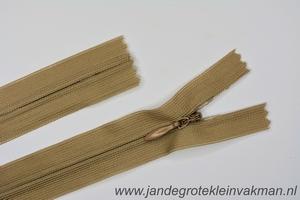 Blinde rits, 60cm, kleur 573, beige
