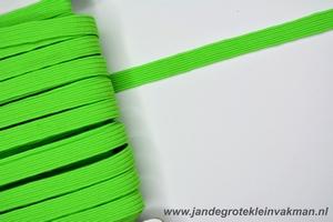 Kledingelastiek, 5mm breed, groen-fluor, per meter