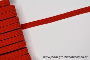 Kledingelastiek, 5mm breed, rood, per meter