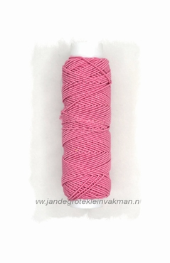 Rimpelelastiek, klosje van ca. 30mtr, roze