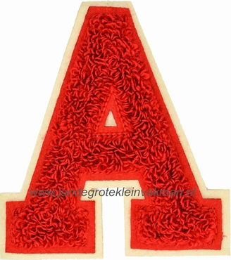 Baseball applicatie, letter A, rood