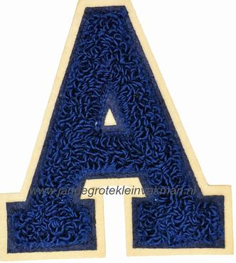 Baseball applicatie, letter A, blauw