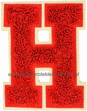 Baseball applicatie, letter H, rood