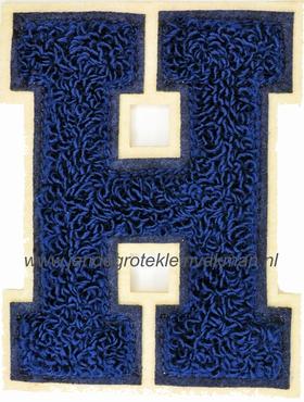 Baseball applicatie, letter H, blauw