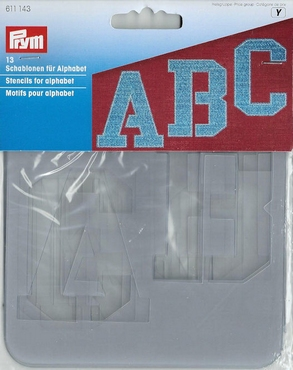 Prym alfabet sjabloon