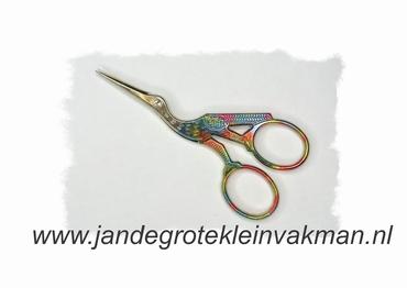 Ooievaarschaar multi-color, voor het fijne handwerk