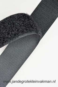 Klittenband YKK, opnaaibaar per meter, 30mm breed, zwart