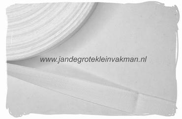 keperband, 15mm, wit, per meter
