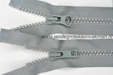 Dubbel deelb, bloktand, nylon, 50cm, kleur 577, grijs