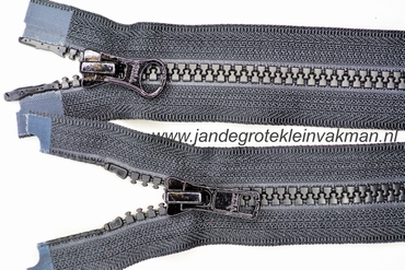 Dubbel deelb, bloktand, nylon, 50cm, kleur 580, zwart