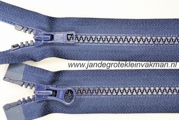 Dubbel deelb, bloktand, nylon, 55cm, kleur 058, marine