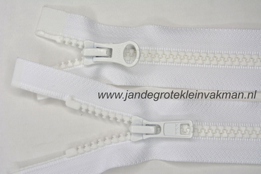 Dubbel deelb, bloktand, nylon, 60cm, kleur 501, wit
