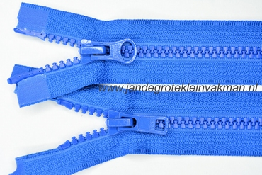 Dubbel deelb, bloktand, nylon, 65cm, kleur 918, blauw