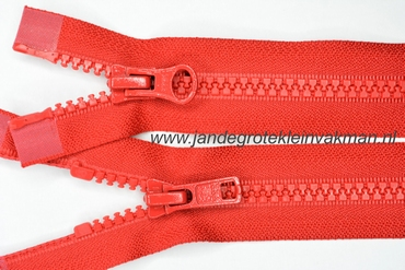 Dubbel deelb, bloktand, nylon, 70cm, kleur 519, rood