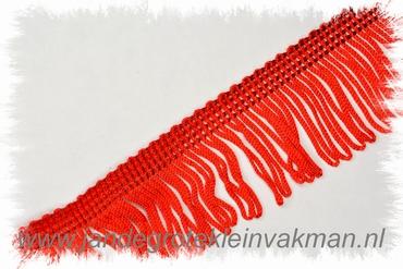 Franjeband (lusjes), 40mm hoog, per meter, rood
