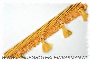 Kwastjes franjeband, goud, per meter
