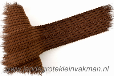 Tresband, 75% acril / 25% polyester, per meter, donkerbruin