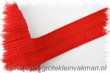 Tresband, 75% acril / 25% polyester, per meter, rood