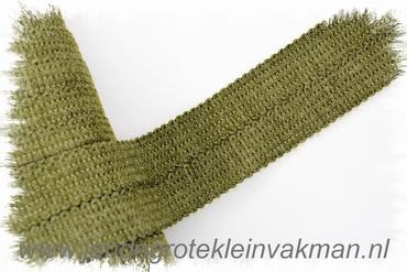 Tresband, 75% acril / 25% polyester, per meter, olijfgroen