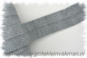 Tresband, 75% acril / 25% polyester, per meter, lichtgrijs