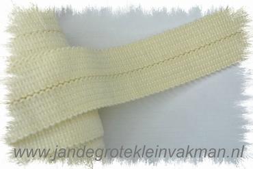 Tresband, 75% acril / 25% polyester, per meter, ecru