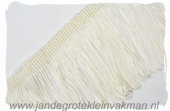 Franjeband (lusjes), 75mm hoog, per meter, ecru