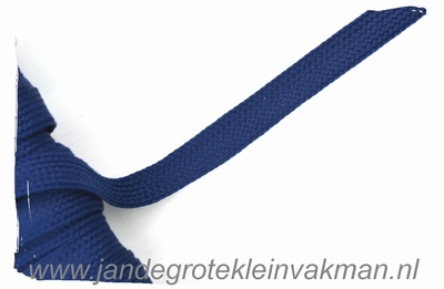 Veterband, synthetisch, 12mm breed, per meter, marineblauw