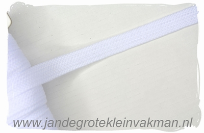 Veterband, synthetisch, 12mm breed, per meter, wit