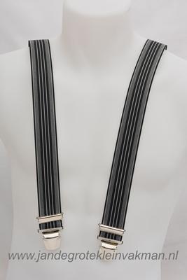 Bretel 35mm breed, met fraaie modieuze streep print