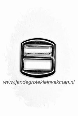 Gilet gesp, metaal, 30x26mm, zilverkleurig