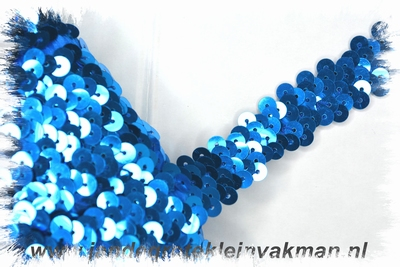 Band (pailletten) elastisch, ca. 20mm breed, blauw