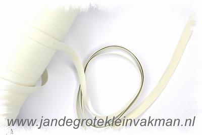 Badpak elastiek, wit, 8mm breed, per 3 meter